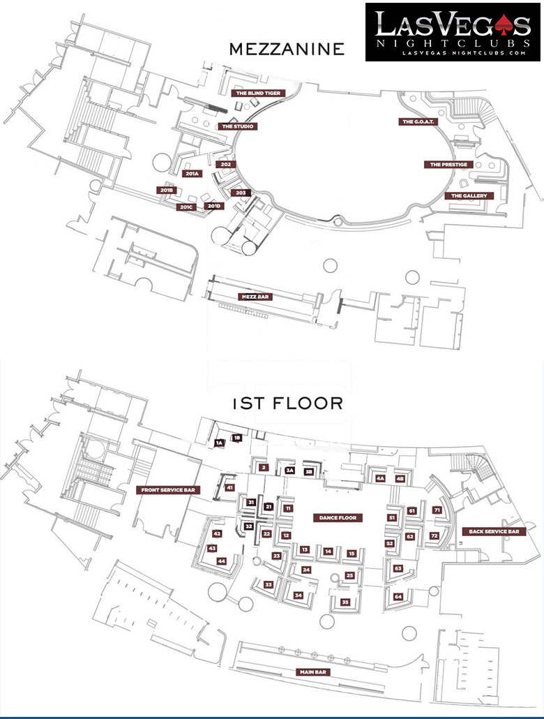 jewel nightclub las vegas night club in las vegas nv view jewel floorplan